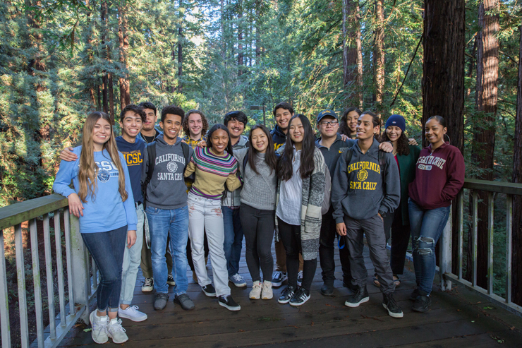 Diverse Group of UCSC Students