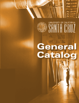 2019-20 General Catalog cover picture of silhouetted student in a hallway with bright light behind
