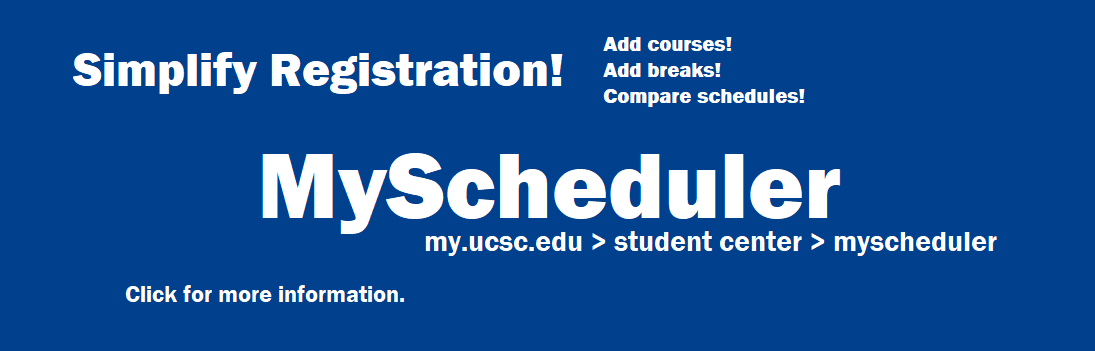 Link to informational video on the MyScheduler application