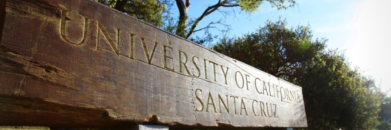 Image of UCSC main entry sign
